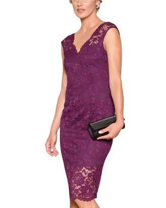 Le Château Women's Chic Lace V-Neck Cocktail Dress