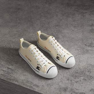 Burberry Archive Logo Cotton Sneakers