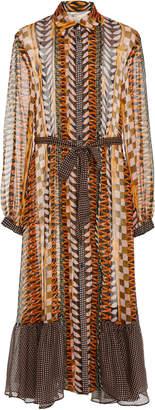 Temperley London Sweetpea Silk Shirt Dress