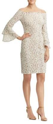 Ralph Lauren Off-the-Shoulder Lace Dress
