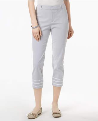Charter Club Tummy-Control Seersucker Pants, Created for Macy's