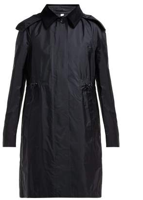 Burberry Gullane Drawstring Waist Trench Coat - Womens - Black
