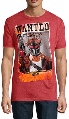 Novelty T-Shirts Star Lord Wanted Marvel Graphic Tee