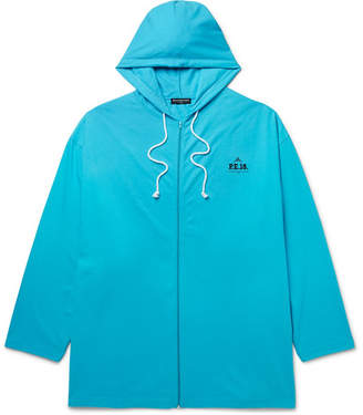 Balenciaga Oversized Cotton-Jersey Zip-Up Hoodie