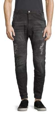 Moto Destroyer Distressed Jeans