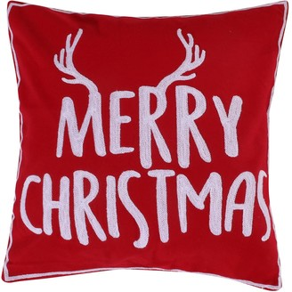 "Levtex Home Reindeer ""Merry Christmas"" Throw Pillow"