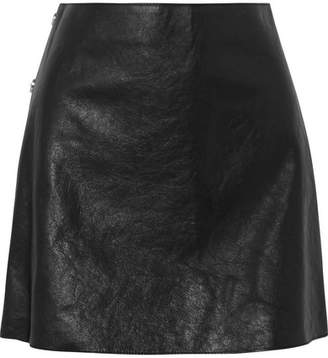 Sonia Rykiel Textured-leather Mini Skirt - Black