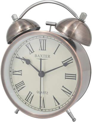 Baxter 11.4cm Metal Roman Numerals Bell Alarm Clock