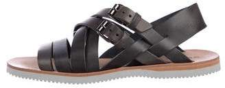 Alexander McQueen Leather Ankle Strap Sandals