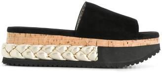 AGL braided platform slippers