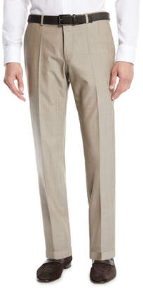 BOSS Men's Wool Straight-Leg Trousers