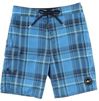 Boy's O'Neill Santa Cruz Plaid Board Shorts $35 thestylecure.com