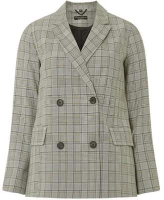 Dorothy Perkins Womens Multi Coloured Checked Double Breasted Jacket