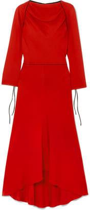 Marni Grosgrain-trimmed Crepe Midi Dress - Red