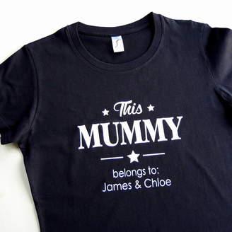 The Alphabet Gift Shop Personalised Mummy T Shirt