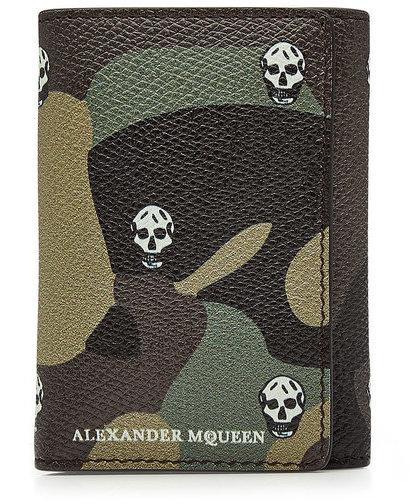 Alexander McQueenAlexander McQueen Printed Leather Wallet
