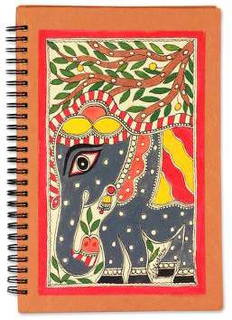 Royal Elephant Madhubani painting journal