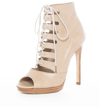 Michael Kors Lace-Up Bootie, Sand