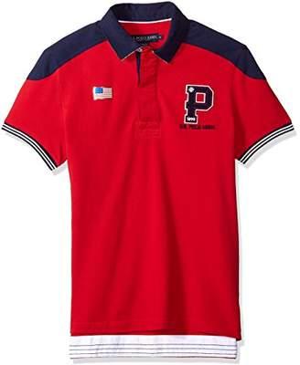 U.S. Polo Assn. Men's Short Sleeve Slim Fit Fancy Pique Shirt