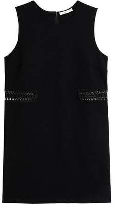Maje Crochet-Trimmed Stretch-Cotton Mini Dress