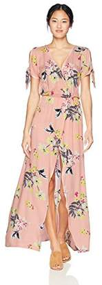 Jack by BB Dakota Junior's Anaya Floral Printed Wrap Dress with Shorts