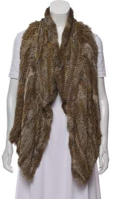Elizabeth and James Fur and Leather Vest