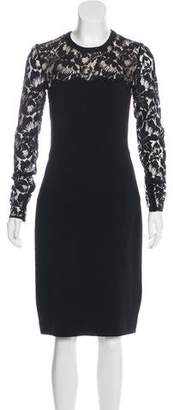 Stella McCartney Lace-Trimmed Bodycon Dress
