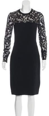 Stella McCartney Lace-Trimmed Bodycon Dress