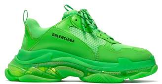 Balenciaga Triple S Low Top Trainers - Mens - Green