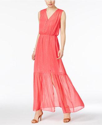 ECI Metallic Chiffon Maxi Dress $70 thestylecure.com