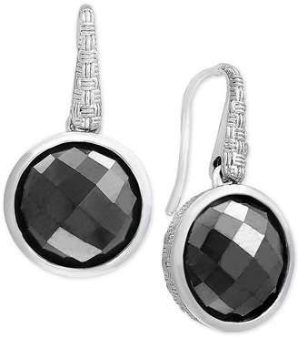 Effy Hematite (12mm) Drop Earrings in Sterling Silver