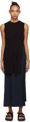Rosetta Getty Black and Navy Split Dress