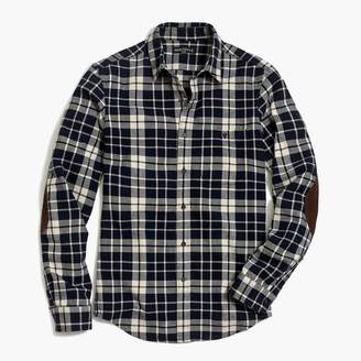 J.Crew Slim rugged elbow-patch shirt in plaid