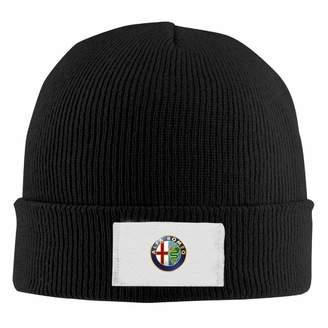 b0f3a845411 WiNjTyMOYO Alfa Romeo Logo Men s Warm Winter Hat Knit Beanie Hat Skull Cap  Unisex