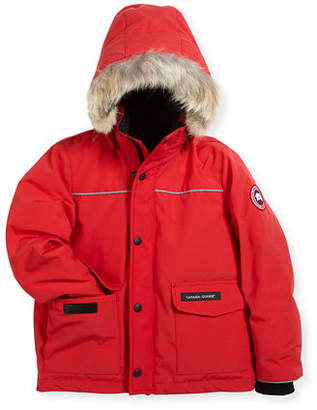 Canada Goose Kids' Hooded Lynx Parka, Black, Size 2-7 $445 thestylecure.com