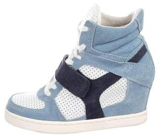 Ash Suede Wedge Sneakers
