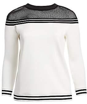 Marina Rinaldi Marina Rinaldi, Plus Size Women's Marina Sport Oblio Mesh-Shoulder Sweatshirt
