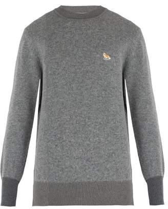 Maison Kitsuné - Crew Neck Lambswool Sweater - Mens - Grey