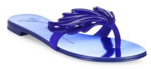 Giuseppe Zanotti Suede Wing Thong Sandals $695 thestylecure.com