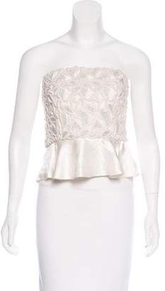 Stella McCartney Embroidered Strapless Top