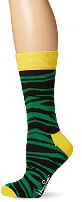 Happy Socks Women's Zebra,(Size: 36-40)