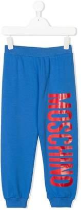 Moschino Kids logo print track pants