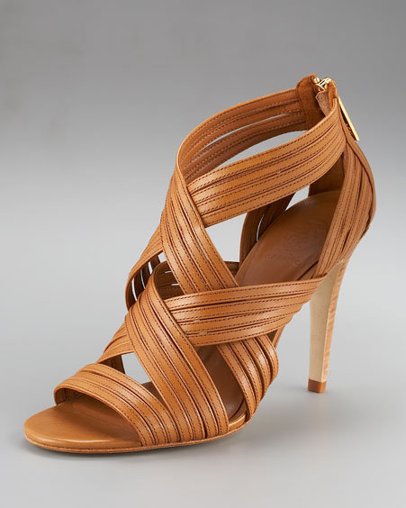 Tory Burch Liv Strappy High-Vamp Sandal
