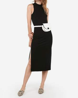 Express Sleeveless Mock Neck Midi Bodycon Dress