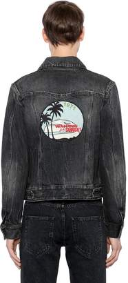 Saint Laurent Waiting For Sunset Cotton Denim Jacket