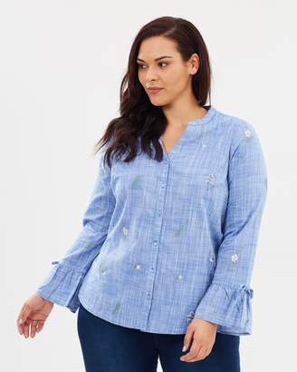 Evans Chambray Embroidered Shirt