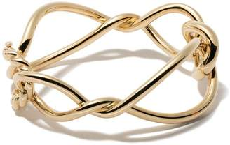David Yurman 18kt yellow gold Continuance bold bangle