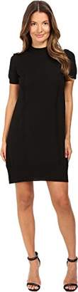 Vera Wang Women's Short Sleeve Knit Dress with Tulle Back