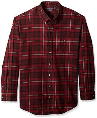 Arrow Men's Big and Tall Saranac Flannel Long Sleeve Button Down Shirt