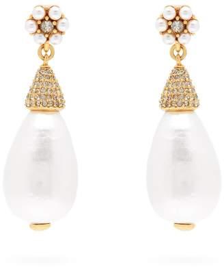 Oscar de la Renta Faux-pearl drop earrings